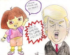 ELISE MCCOMB 14, ROSEVILLE, MINN. Dora vs. Trump