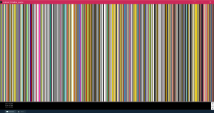 Peyton, 12th grade, wrote code to display each mention of color throughout the novel, arranged from beginning to end.